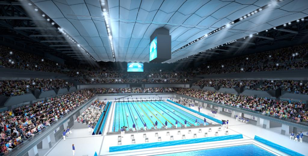 Eröffnung des Aquatics Centre als Zeichen der Hoffnung