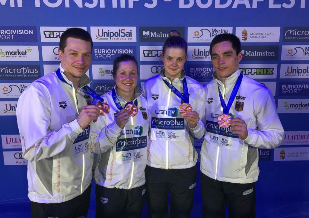 Bronze zum EM-Auftakt für deutsches Sprungteam