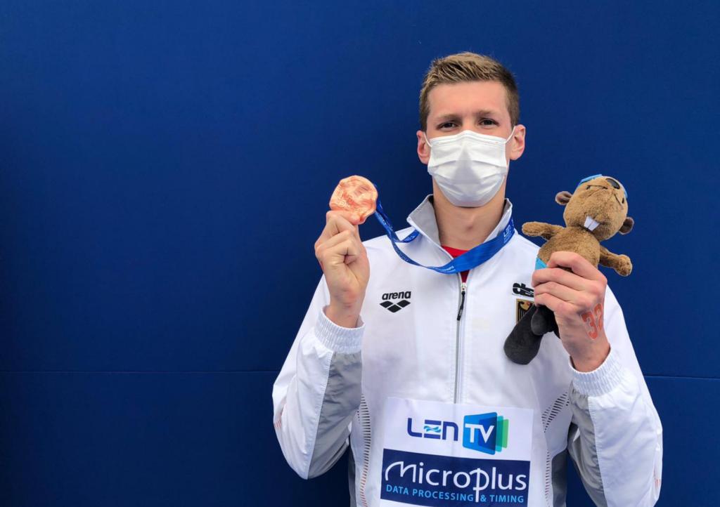 Florian Wellbrock schwimmt zu EM-Bronze über 10km