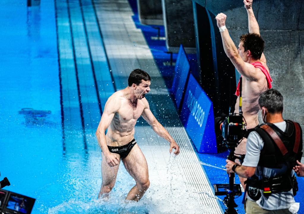 Hausding und Rüdiger springen im letzten Versuch zu Bronze