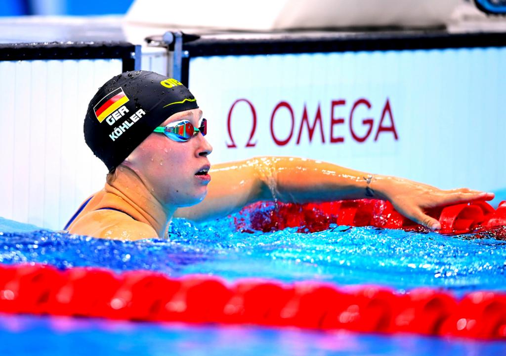 Sarah Köhler wird Siebte über 800m Freistil
